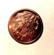 Медный слиток Индейская медаль мира 999 пробы медь 1 унция США
