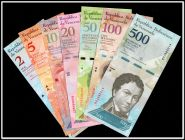 Венесуэла 2 5 10 20 50 100 500 и 1000  боливар, 8 бон