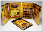 АКЦИЯ!!! Набор монет 2 и 5 рублей БОРОДИНО (1812) в капсульном альбоме