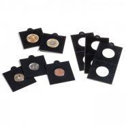Холдеры для монет самоклеющиеся (цвет черный) 27,5мм - 40мм