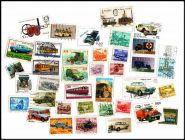 ТРАНСПОРТ, 37 шт. без повторов, марки стран мира