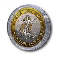 ДЕВА, монета 10 рублей, с гравировкой, знаки ЗОДИАКА
