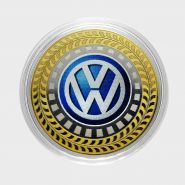10 рублей Volkswagen, серия автомобили мира, цветная,гравировка