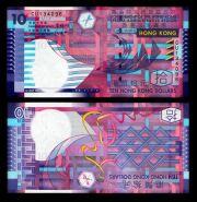 10 долларов Гонконг 2002 ПРЕСС UNC
