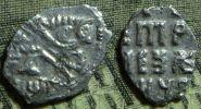 Чешуя: копейка Петр I 1703 г. КГ 1969 (серебро)