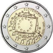 Словакия 2 евро 2015 30 лет флагу Европы UNC